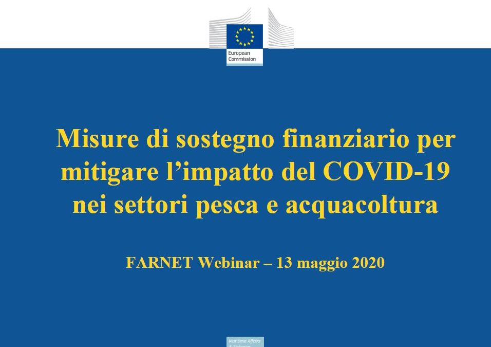 Misure di sostegno finanziario per mitigare l'impatto COVID-19 nei settori pesca e acquacoltura